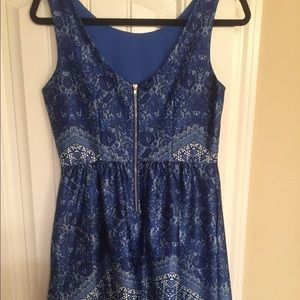 The Limited Outback Blue satin dress. Size 2